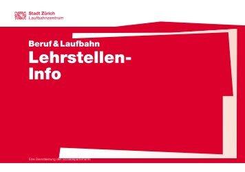 Lehrstellen- Info - Stadt Zürich
