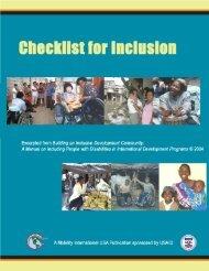 Checklist for Inclusion - bezev eV