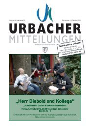 """""""Herr Diebold ond Kollega"""" - Gemeinde Urbach"""