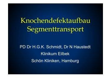Knochendefektaufbau Segmenttransport - Septische Chirurgie