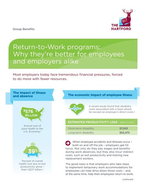 The Hartford At Work >> Return To Work Programs Why They Re Better For The Hartford