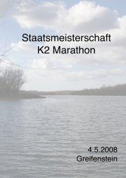 Staatsmeisterschaft K2 Marathon - Kanuverband
