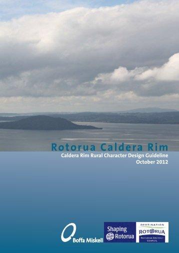 Rotorua Caldera Rim Report - Rotorua District Council
