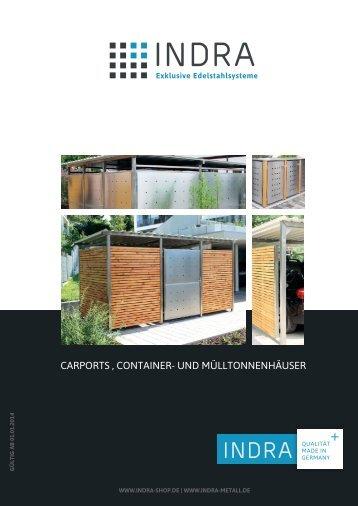 carports, container- und mülltonnen häuser - Indra Metallwaren