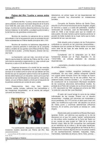 """Palma del Río """"Lucha y vence entre dos ríos1"""" - ARTE ..."""