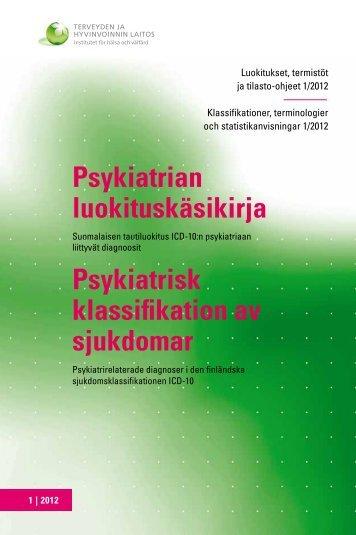 Psykiatrian luokituskäsikirja Psykiatrisk klassifikation av ... - Julkari