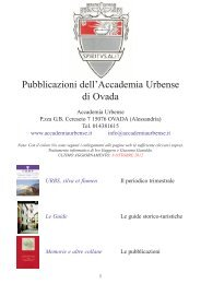 ELENCO PUBBLICAZIONI ACCADEMIA URBENSE.qxd