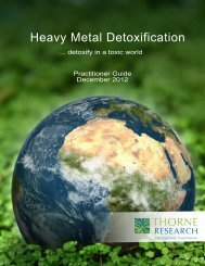 Heavy Metal Detox Physician Guide 2012 - Thorne Research