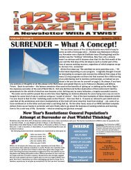 SURRENDER – What A Concept! - 12 Step Gazette