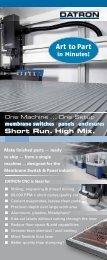 Membrane Switch Brochure - Datron Dynamics Inc.