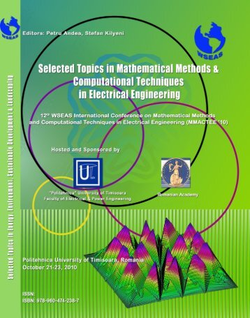 SELECTED TOPICS in MATHEMATICAL METHODS and ... - Wseas.us