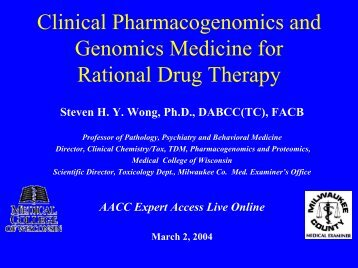 Clinical Pharmacogenomics and Genomics Medicine ... - Thblack.com