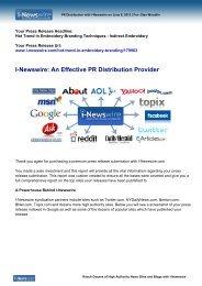 I-Newswire: An Effective PR Distribution Provider