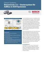 Denoxtronic 3.1 - Bosch Automotive Technology