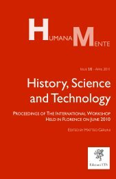 Humana.Mente - Issue 16 - History, Science and Technology