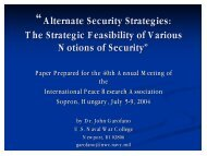 Alternative Security Strategies
