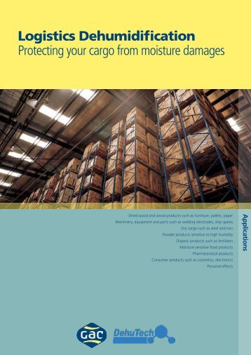 Logistics Dehumidification Protecting your cargo from ... - GAC