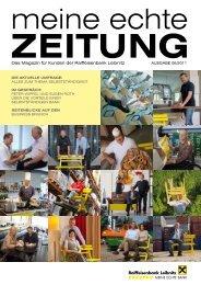 Das Magazin für Kunden der Raiffeisenbank Leibnitz