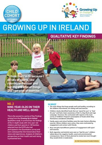 9-Year-Olds and their Health and Well-being - Growing Up in Ireland