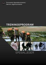 TRENINGSPROGRAM SPESIALJEGER - Forsvaret