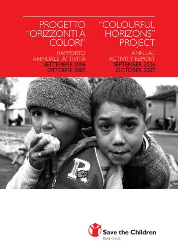 orizzonti a colori - Save the Children Italia Onlus