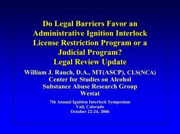 Legal Review - Colorado