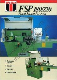 Wadkin FSP Four Sided Planer Literature