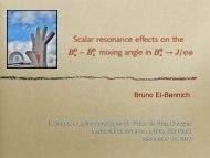 Scalar resonance effects on the mixing angle in - ictp – saifr