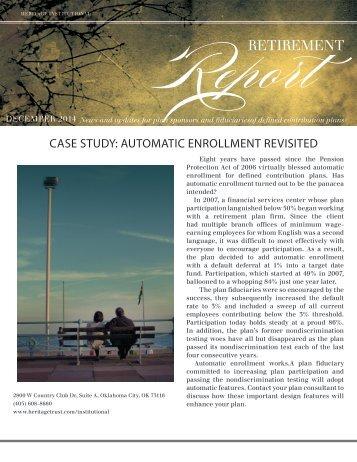 Retirement Report - December 2014