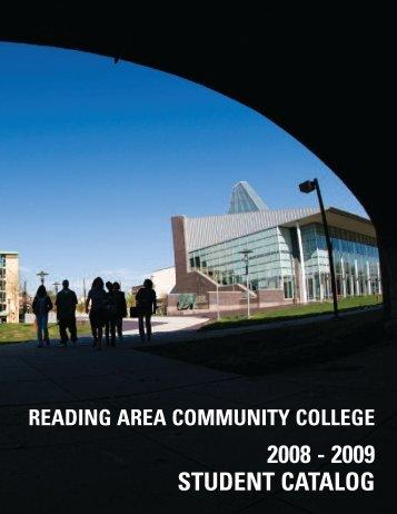 2008/2009 Student Catalog - Reading Area Community College