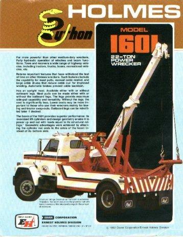 Holmes - Model 1601 - hydraulic wrecker