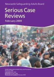 Serious Case Reviews - Newcastle City Council