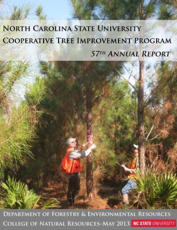 Annual Report 57, published in 2013 - Tree Improvement Program