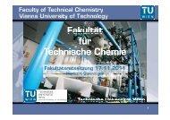 Fakultät für Technische Chemie