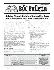 BOC Bulletin 8.9.indd - Building Operator Certification