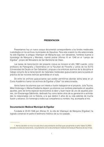 Archivo Municipal de Elgoibar (1346-1520). IN: Archivo Municipal ...