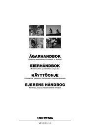 ägarhandbok eierhåndbok käyttöohje ejerens håndbog - Biltema