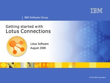 Getting started with Lotus Connections Activities