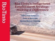 Rio Tinto's Indigenous Employment Strategy - Mid West ...