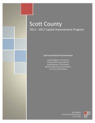 2013-2017 Capital Improvement Program - Scott County