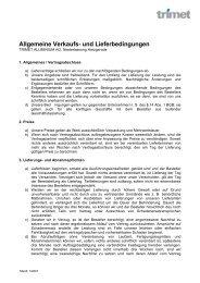 Allgemeine Verkaufs- und Lieferbedingungen - TRIMET Aluminium SE