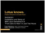 "SHOW201 Installation and Setup of IBM Lotus Sametime 8.5 ""From ..."
