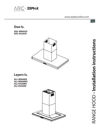 Range hood installation instructions zephyr.
