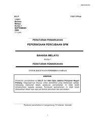 peperiksaan percubaan spm bahasa melayu - Trial Paper Collection