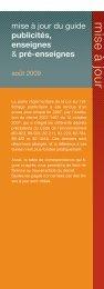 mise à jour du guide publicités, enseignes & pré-enseignes - CAUE
