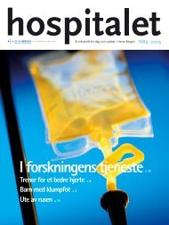 Hospitalet 2005 Nr 4 - Helse Bergen