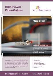 High Power Fiber-Cables - Artphotonics