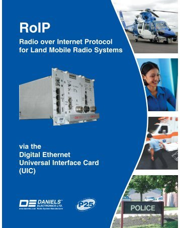 via the Digital Ethernet Universal Interface Card - Daniels Electronics