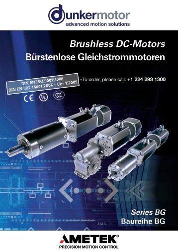 Brushless DC-Motors Bürstenlose ... - Dunkermotoren