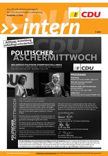Achtung: Anmeldung unbedingt erforderlich! - CDU Kreisverband ...